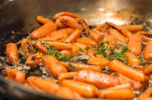 Sauteing Carrots with Butter and Dill