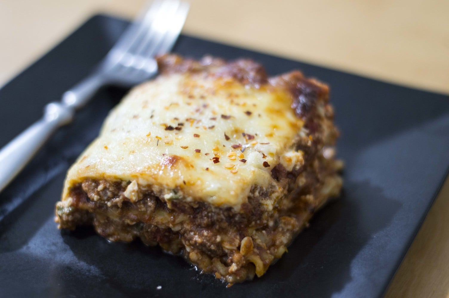 A simple and elegant plating of our classic lasagna