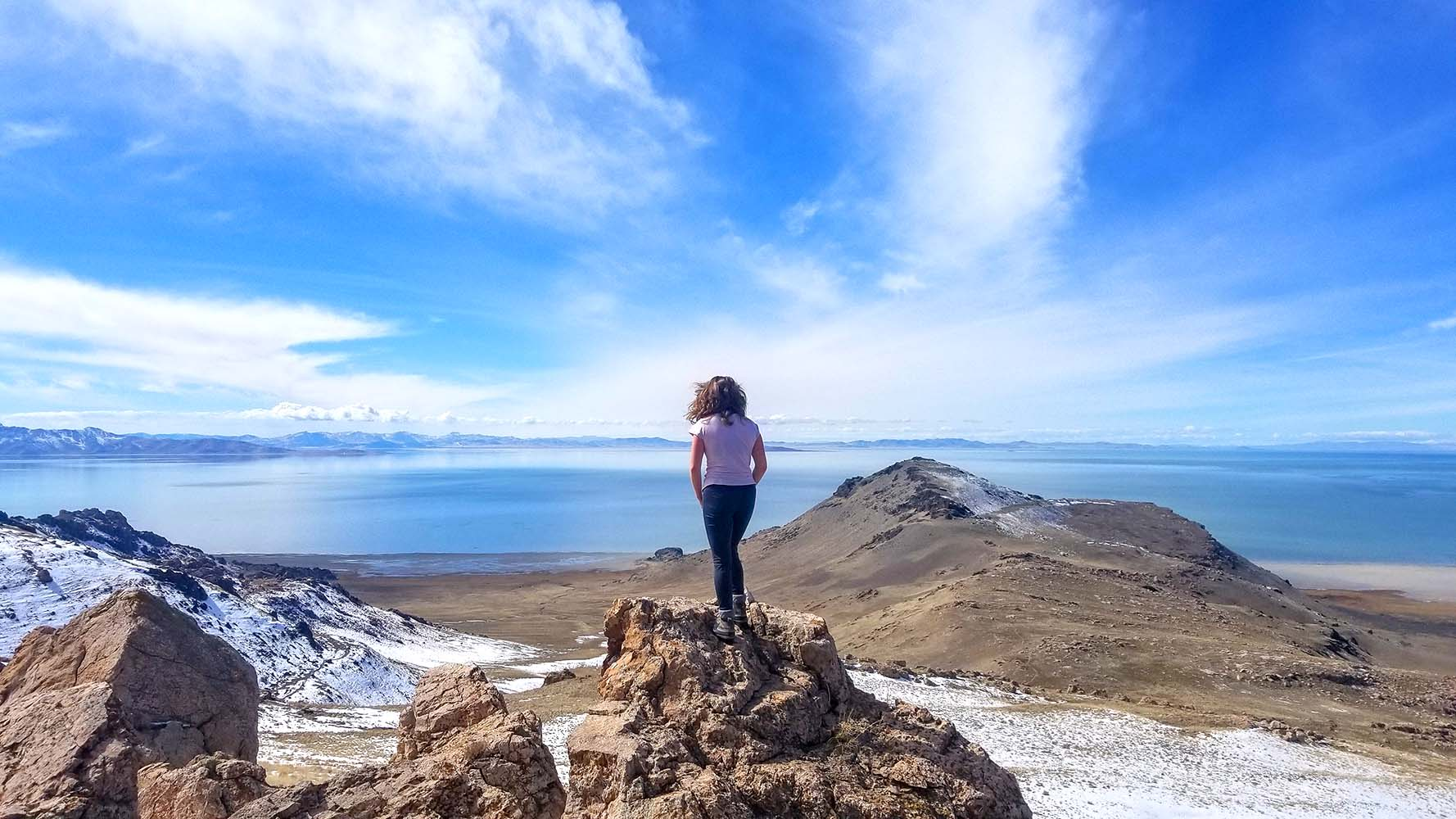 Hiking at antelope island